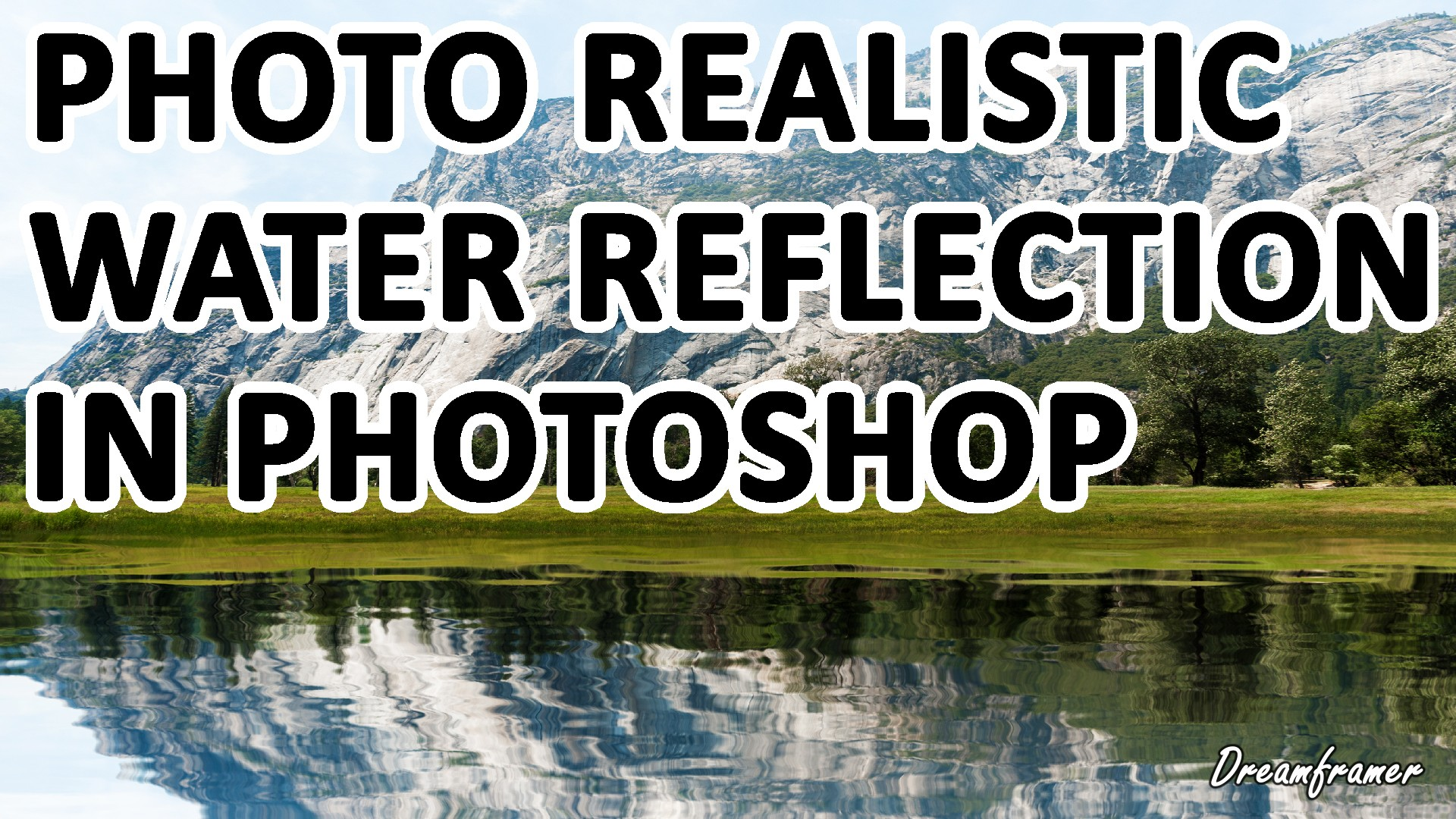 how to create water reflection in photoshop